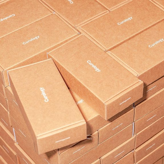neue Kartons aus recycelten Kartonagen